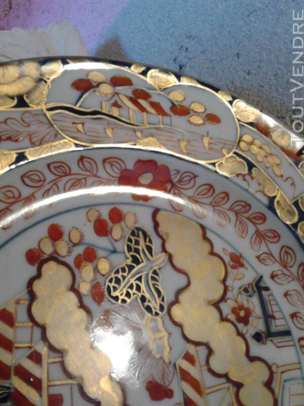 Ancienne Assiette Imari Porcelaine Antiquité suxn 165312364