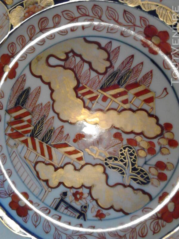 Ancienne Assiette Imari Porcelaine Antiquité suxn 165312376