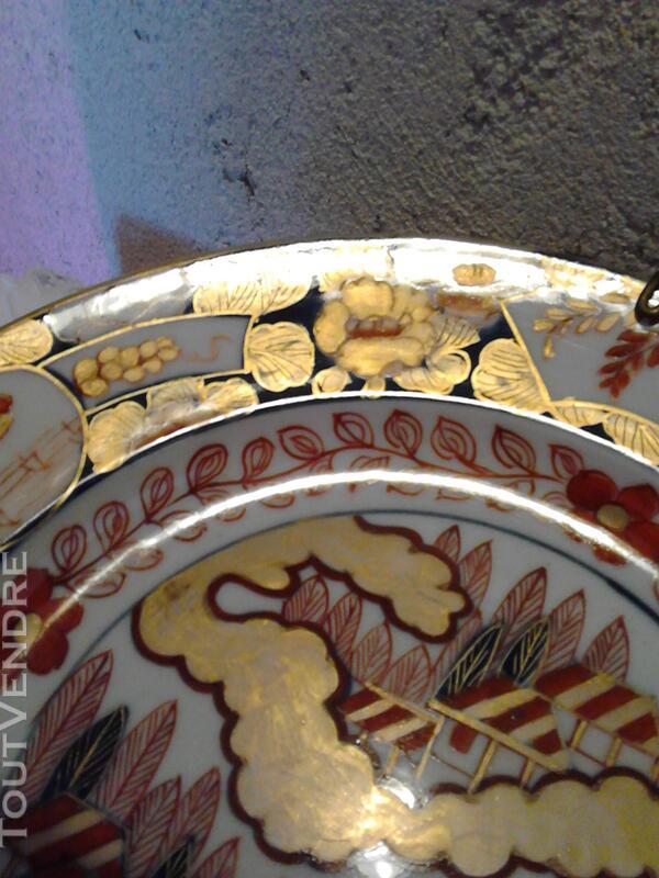 Ancienne Assiette Imari Porcelaine Antiquité suxn 165312379