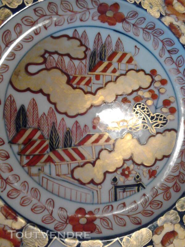 Ancienne Assiette Imari Porcelaine Antiquité suxn 165312382