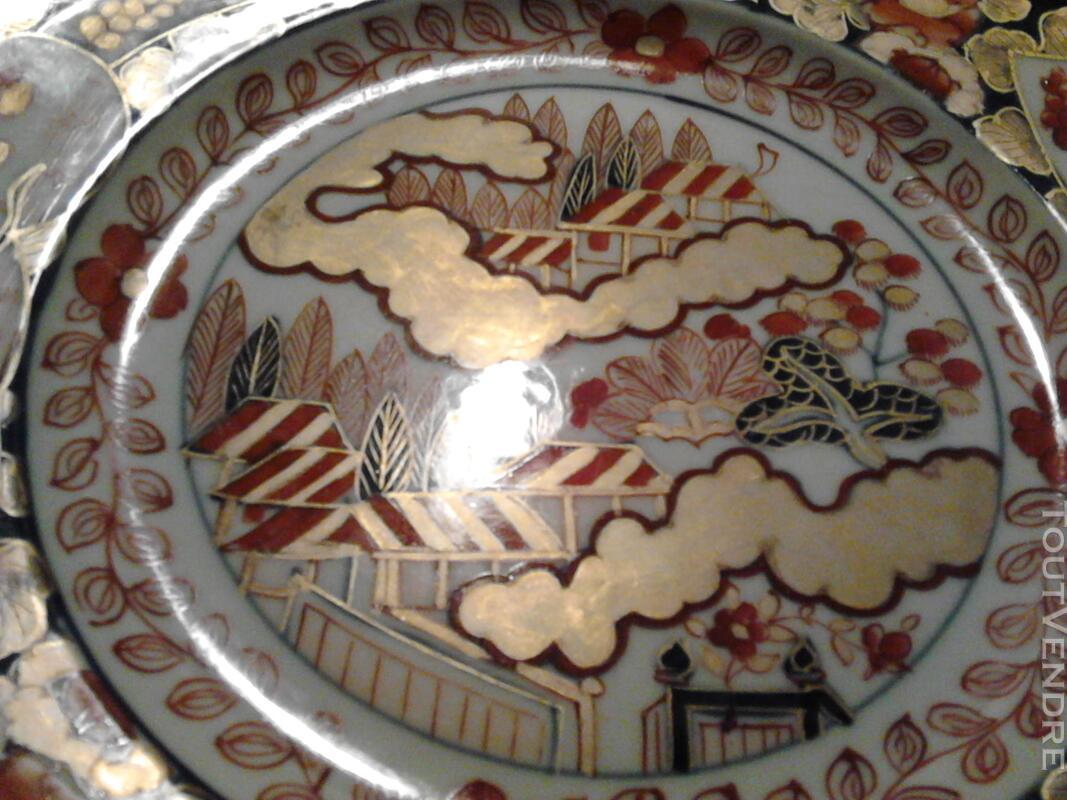 Ancienne Assiette Imari Porcelaine Antiquité suxn 165313081