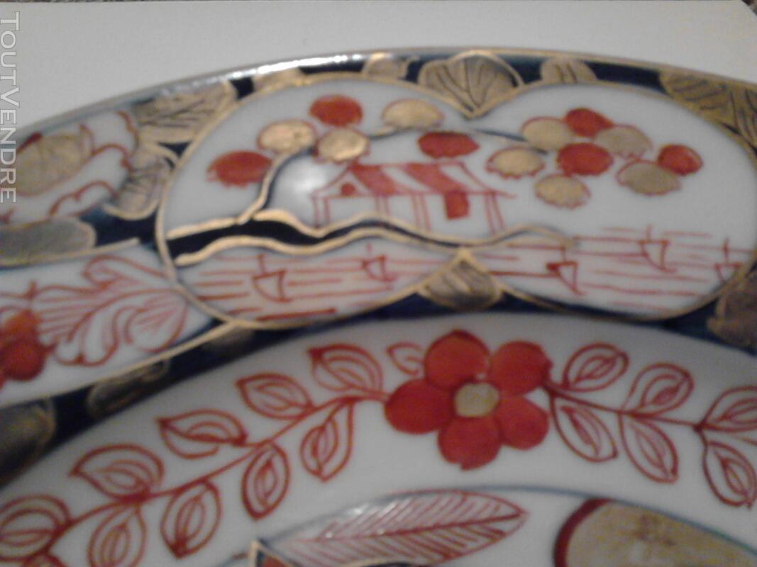 Ancienne Assiette Imari Porcelaine Antiquité suxn 165313093