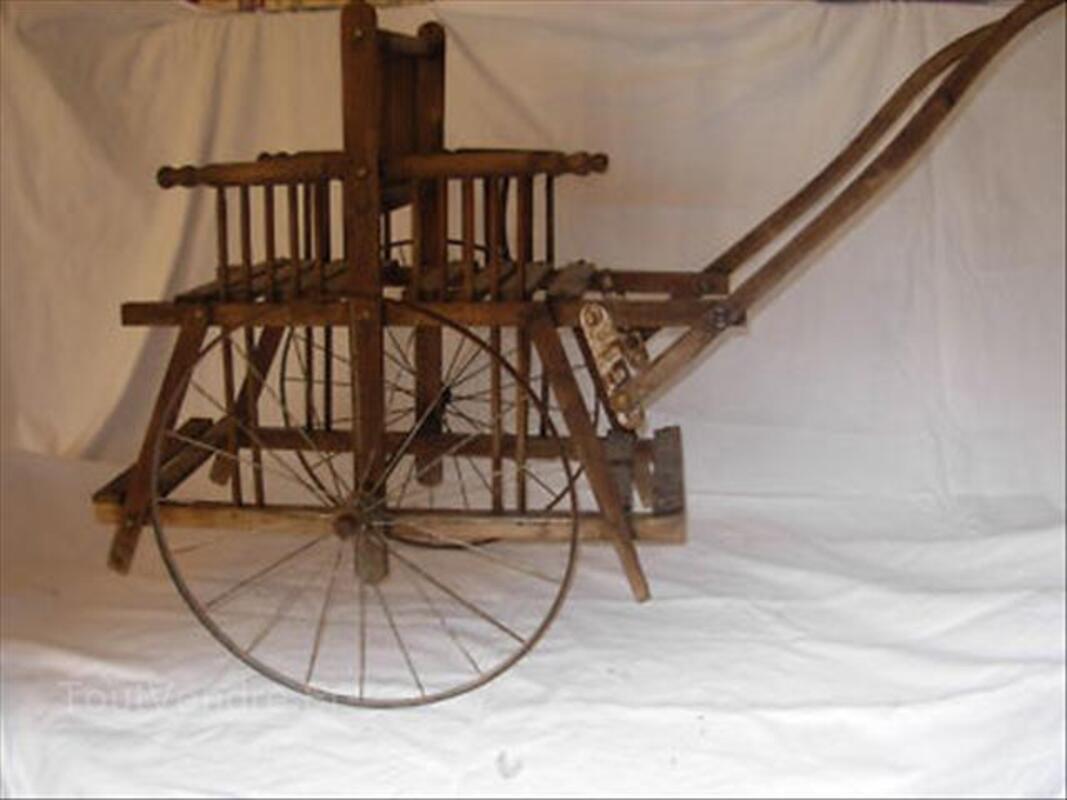 Ancienne charette chaise pour jumeaux dos a dos 64601530