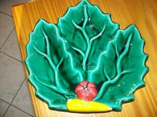 Ancienne coupe a fruits vallauris avec inscriptions