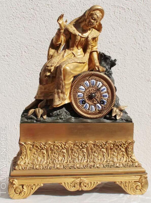 ANCIENNE HORLOGE PENDULE EMPIRE en BRONZE TAROT 186917703