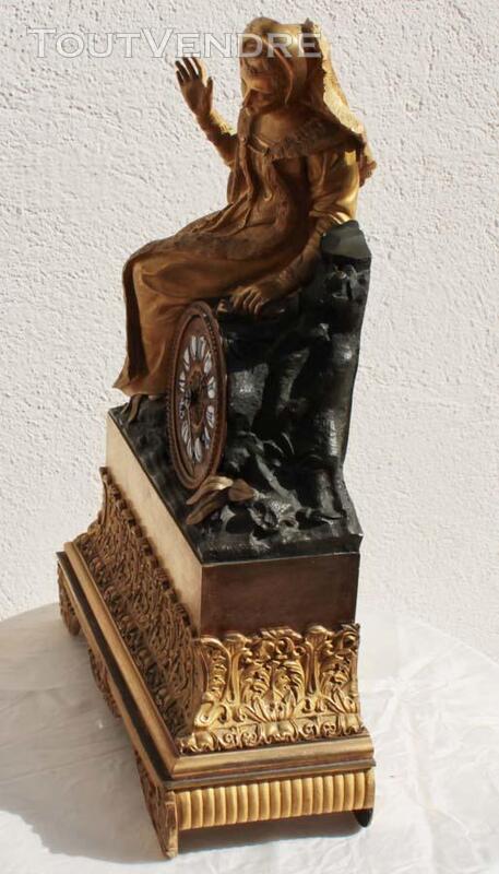 ANCIENNE HORLOGE PENDULE EMPIRE en BRONZE TAROT 186917715