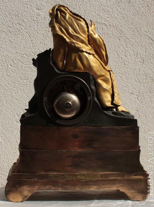 ANCIENNE HORLOGE PENDULE EMPIRE en BRONZE TAROT 186917721