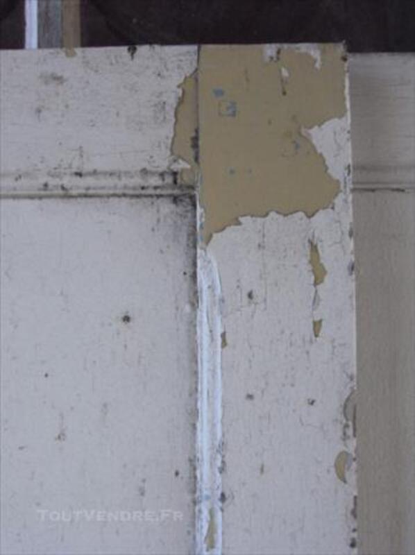 Ancienne porte coulissante en chêne avec ses poignées 84751513