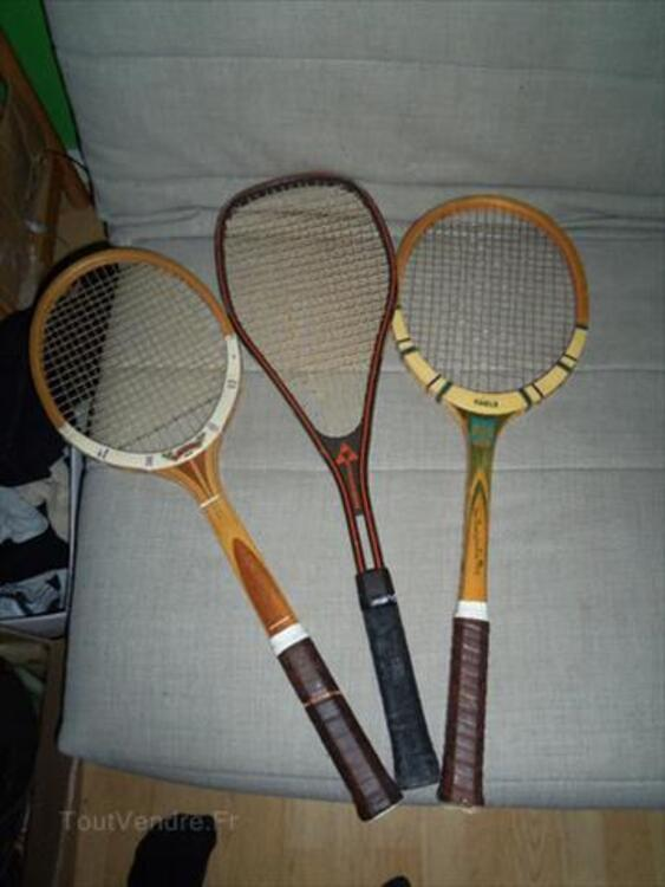 Ancienne raquettes de tennis 64640207