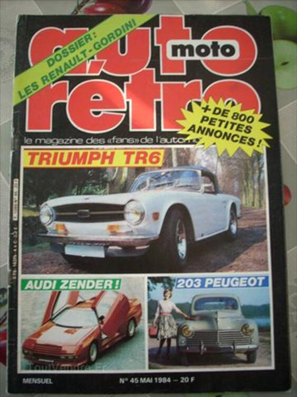 Ancienne revue 1984 avec renault r5 alpinegordini+A110 66132111