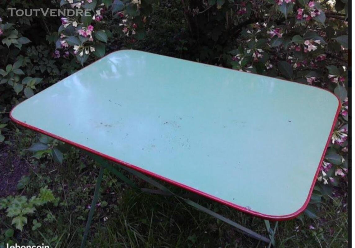 Ancienne Table Jardin Métal Rectangulaire Pliante suxn 349064528