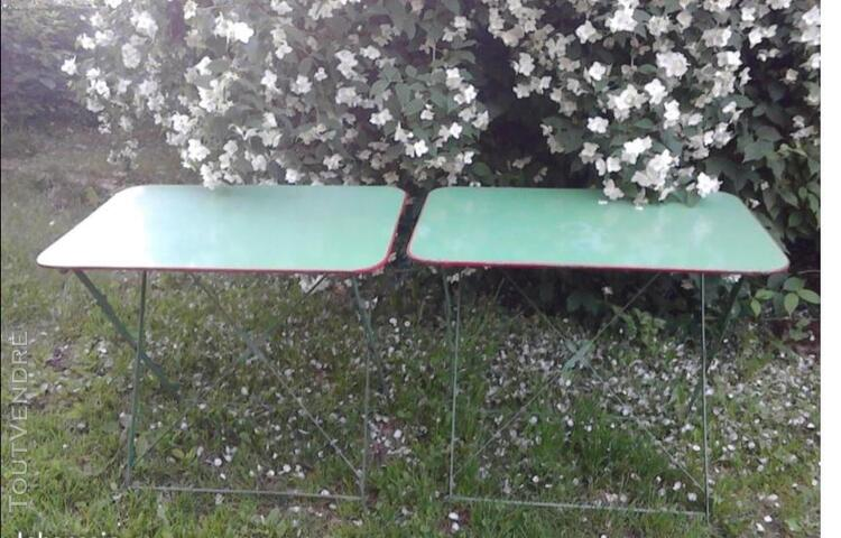 Ancienne Table Jardin Métal Rectangulaire Pliante suxn 349064534