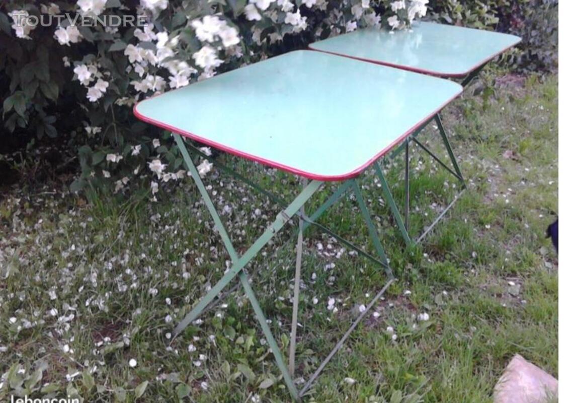 Ancienne Table Jardin Métal Rectangulaire Pliante suxn 349064537