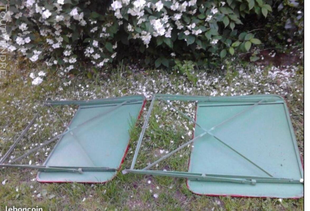 Ancienne Table Jardin Métal Rectangulaire Pliante suxn 349064542
