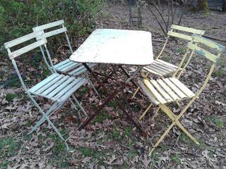 Anciennes Chaises fer&bois jardin/Balcon suxn