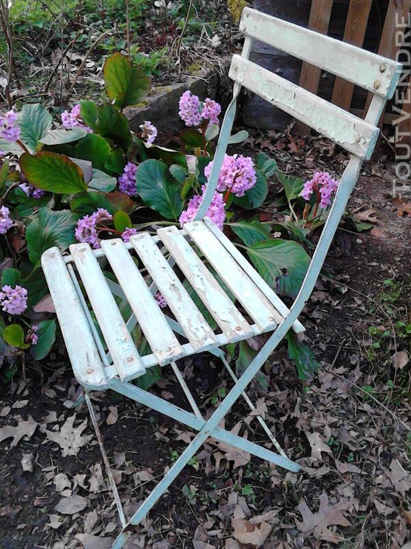 Anciennes Chaises fer&bois jardin/Balcon suxn 194441424