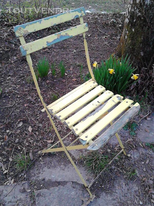 Anciennes Chaises fer&bois jardin/Balcon suxn 194441427