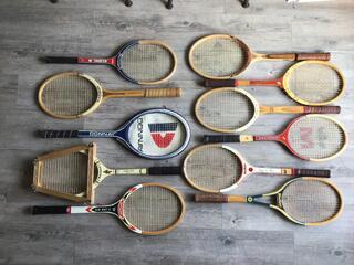 Anciennes raquettes de tennis