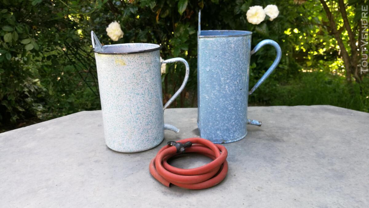 Anciens Pots à lavement émaillés 518698145