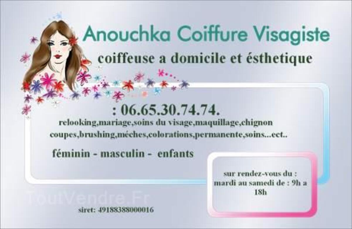 ANOUCHKA COIFFURE VSAGISTE & ESTHETIQUE A DOMICILE 19015159