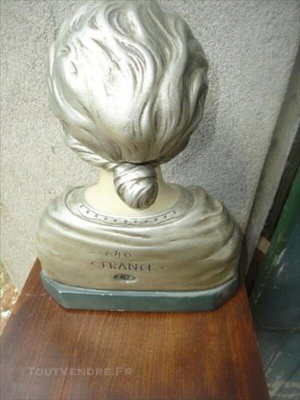 Antiquité - Buste de femme en platre 77270547