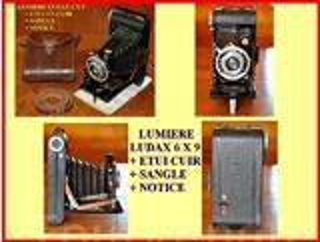 APPAREIL A SOUFFLET LUMIERE LUDAX 6 X 9 + ETUI - TBE.