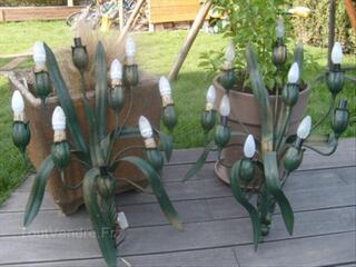 Applique en fer forgé forme fleurs