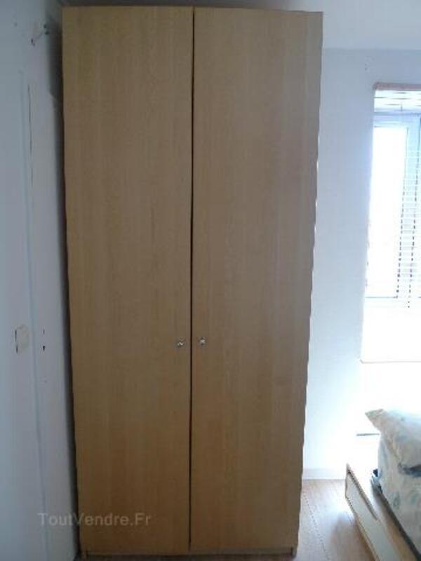 ARMOIRE PAX IKEA PORTES H230 BOULEAU 91561343