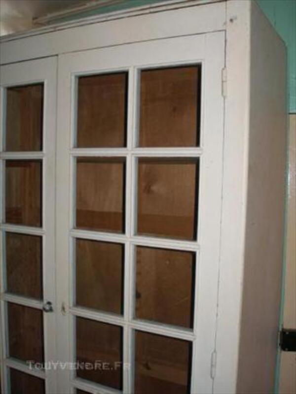 Armoire penderie ancienne 2 grandes portes vitrées Bois 44703507