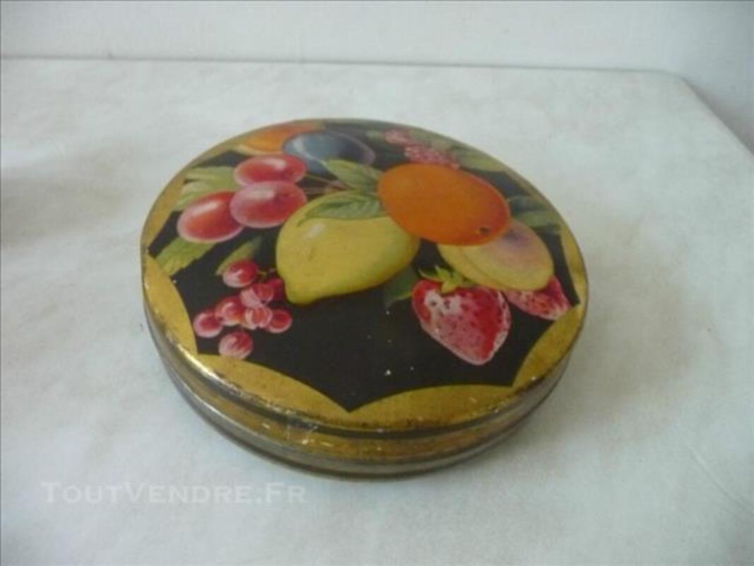 ART DECO-BOITE TOLE PUB-FRUITS-CENOU-1930-GRENOBLE 84762993