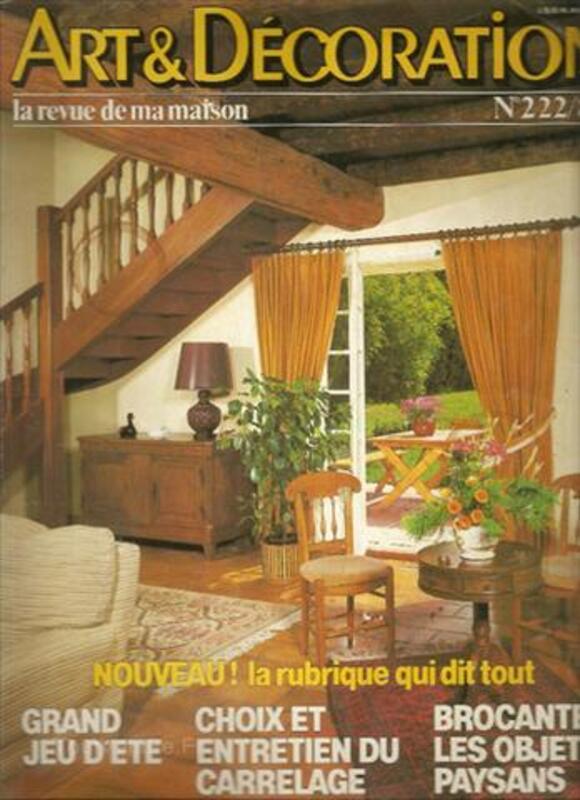 Art & Décoration n° 222, Août-septembre 1980. 56320964