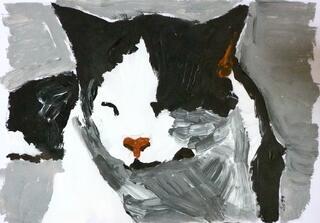 Artiste peintre peint votre animal de compagnie