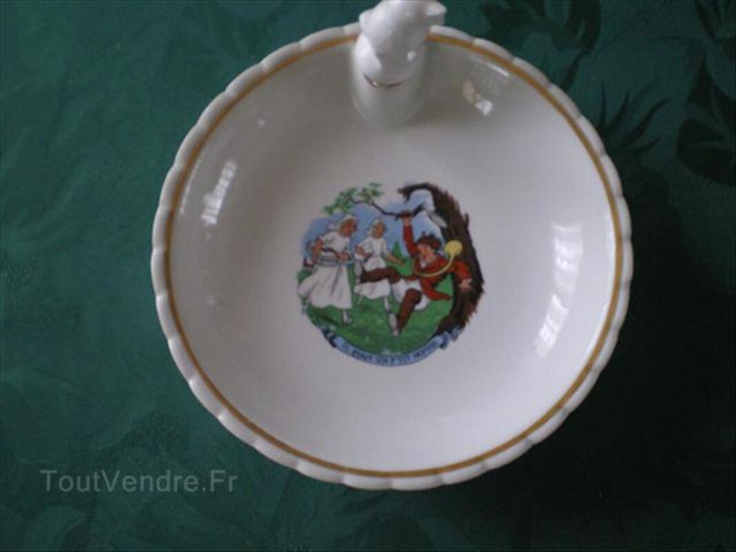 Assiette à bouillie ancienne porcelaine 56192284