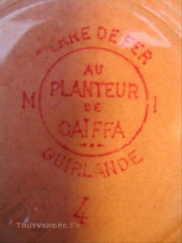"""ASSIETTE ANCIENNE """"AU PLANTEUR DE CAÏFFA"""" 45000104"""