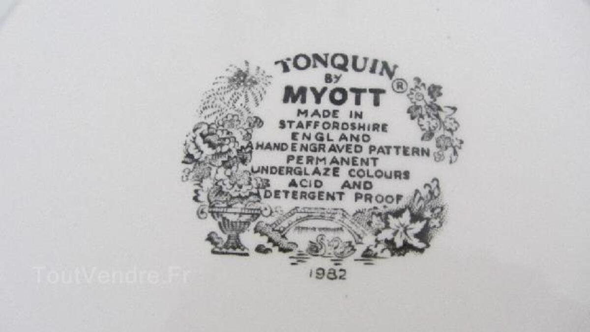"Assiette anglaise du 20e siècle ""Toquin by Myott"" 90781140"