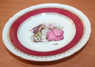 Assiette creuse haute porcelaine du Berry