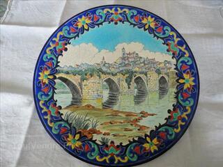 Assiette émaux (Pont st Etienne)
