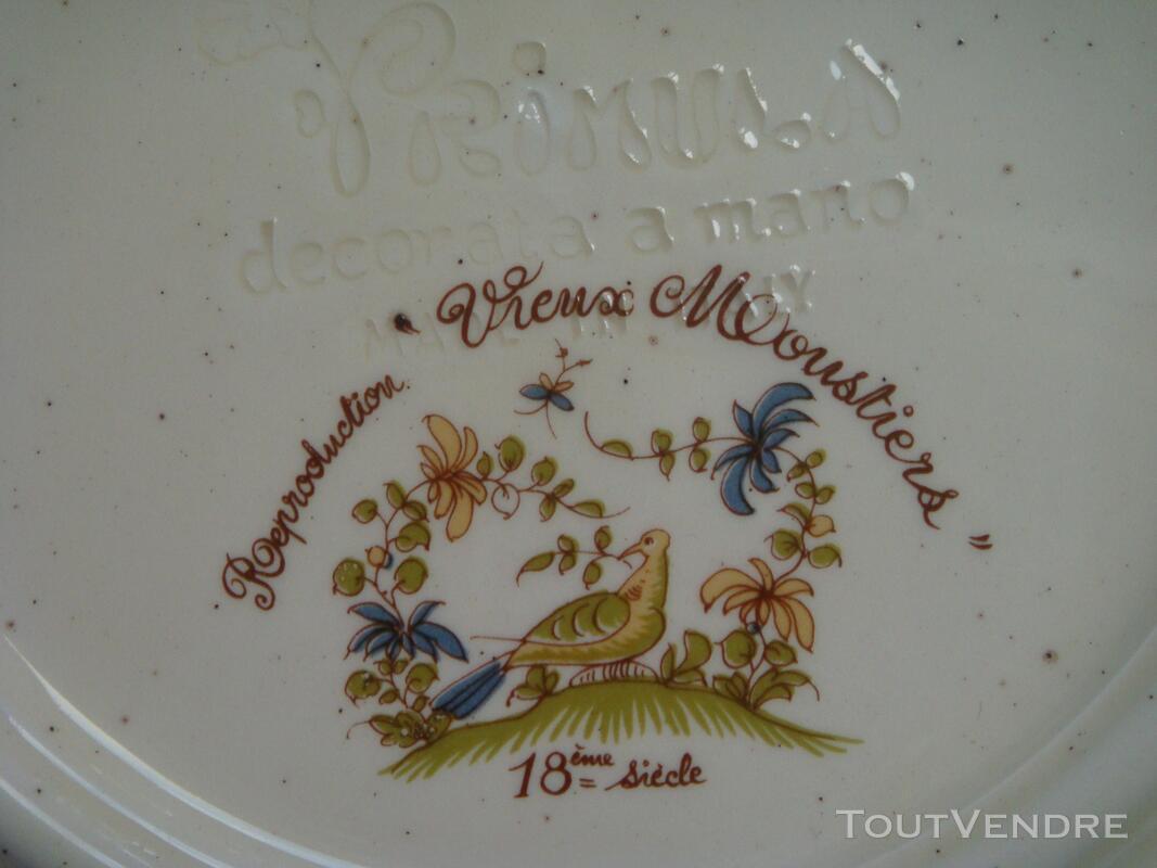 Assiette en faïence reproduction Vieux Moustiers 18 ème 182121959