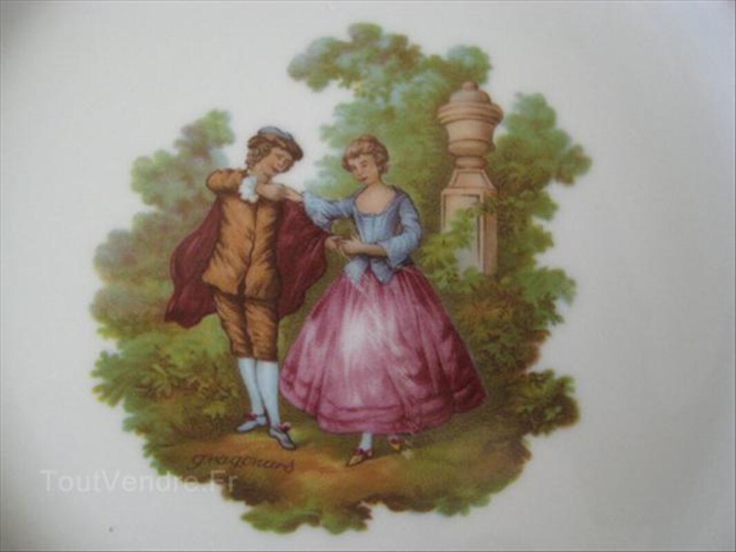 "Assiette ""Fragonard"" en porcelaine de Limoges 56068420"