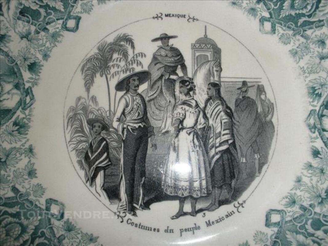 Assiette parlante ancienne SARREGUEMINES fin 19e siècle 85257060