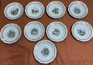 Assiettes décoratives de SAINT GILLES CROIX DE VIE