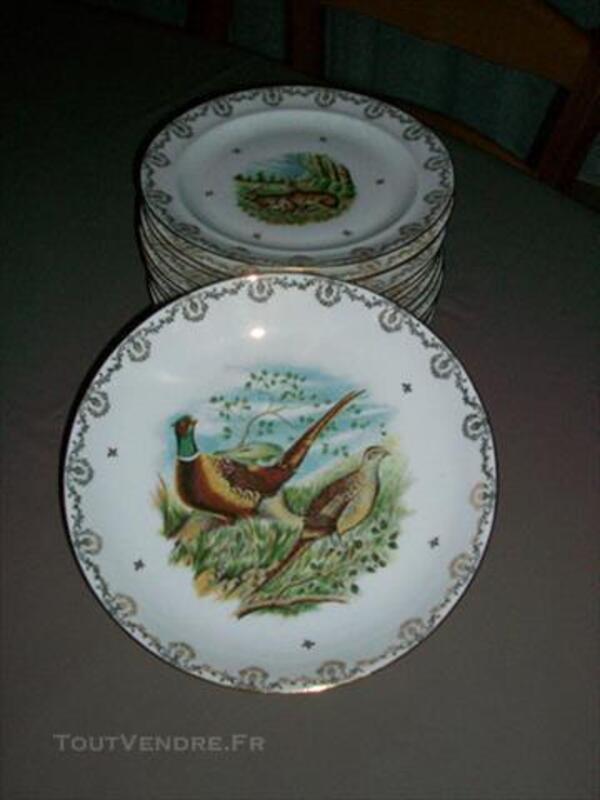 Assiettes porcelaine de limoges 83083504