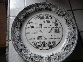 Assiettes rébus anciennes 6
