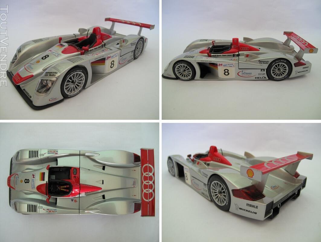 Audi R8 #8 vainqueur 24H du Mans 2000 Maisto 1/18 125735819
