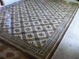 Authentique tapis de carreaux en ciment