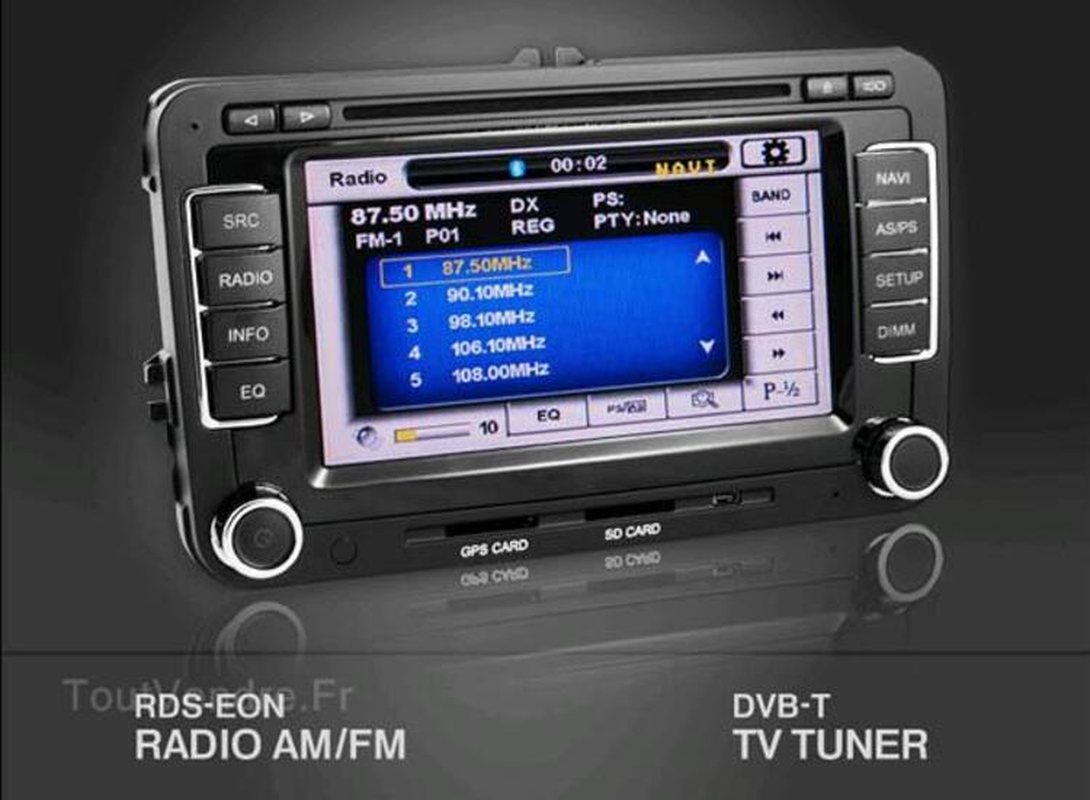 Autoradio gps Volkswagen SEAT SKODA bluetooth gestion radars 34591975