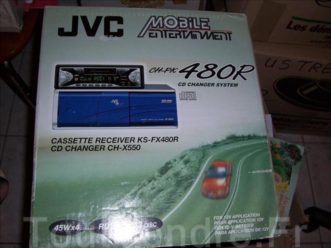 AUTORADIO JVC KSFX480R CHARGEURS DE 12 CD ET CASSETTES 62194453