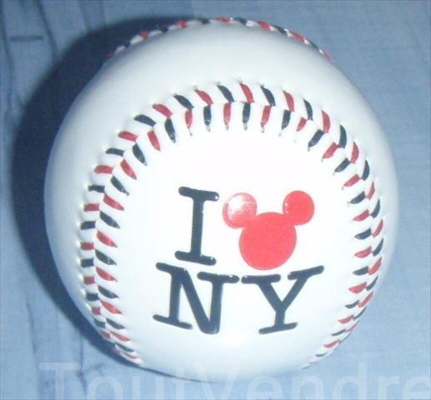 """BALLE DE BASE BALL COLLECTOR DISNEY """"I LOVE NY"""" 56282956"""