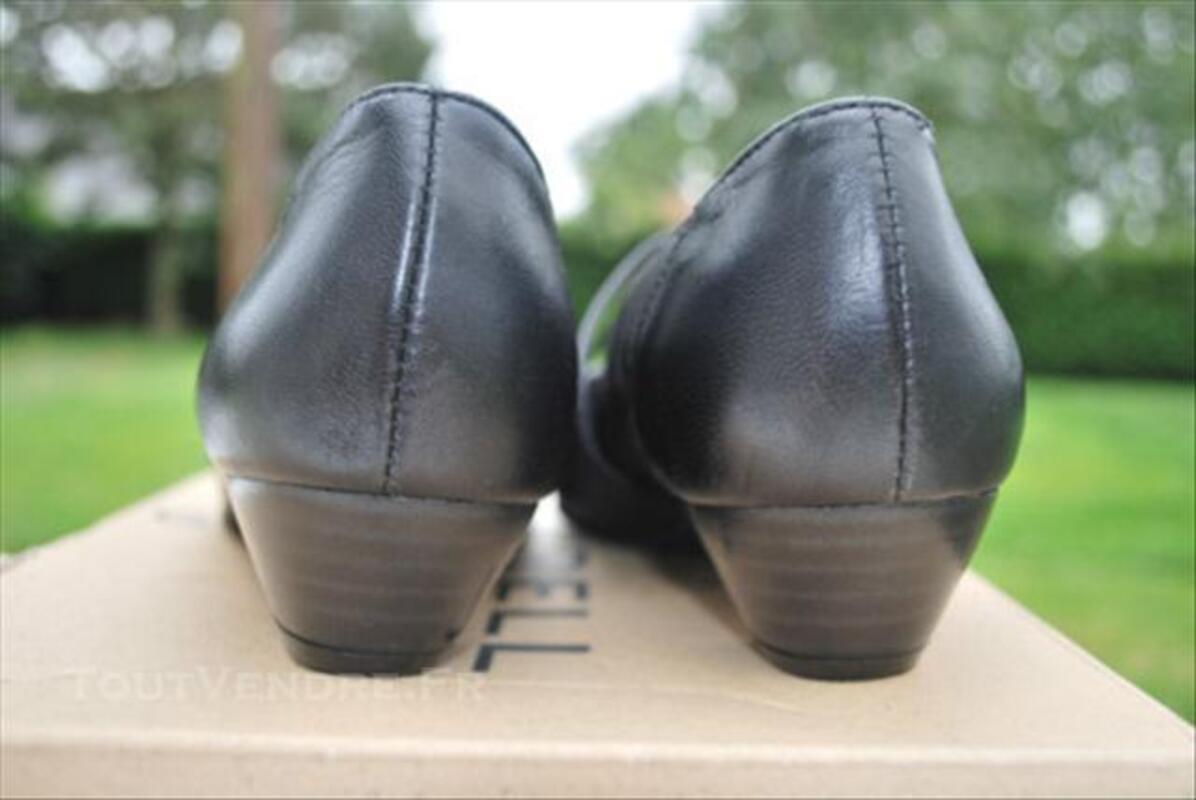Ballerines/escarpins femme noir 39 cuir 73989568