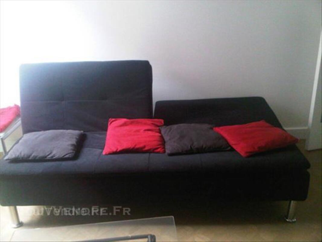 Banquette noire 3 places convertible 45856094